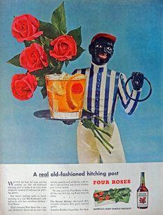 Four Roses Whiskey  40 s Vintage Print Ad  Original Rare 1947 Life Magazine Art