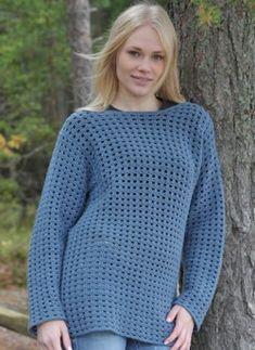 Crochet jumper - free pattern (SWE)