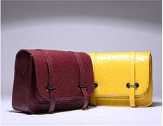 yellow/purple fashion leather crossbody shoulder bag for women