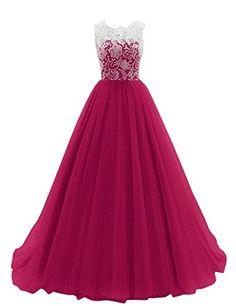 JY Women's Ruched Sleeveless Lace Long Evening Dress Prom Gown #03 US 10 Fuchsia Jingyang http://www.amazon.com/dp/B01AJOFF3I/ref=cm_sw_r_pi_dp_ndNRwb0XDR1E1