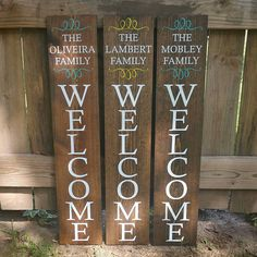 Welcome Sign - Front Porch Welcome Sign - Reversible Sign - Porch Sign - Last Name Sign - Family Name Sign - Outdoor Welcome Sign - Outdoor Welcome Sign, Welcome Signs Front Door, Wooden Welcome Signs, Front Porch Signs, Diy Wood Signs, Outdoor Signs, Rustic Wood Signs, Rustic Decor, Diy Porch