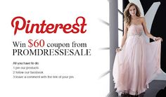 Pinterest users, join the competition, read all the details on http://www.fashionandcookies.com/2012/04/pinterest-promdressesale-competition.html