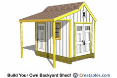 Backyard storage sheds ideas garden shed plans designs building a cop colonial porch front . diy backyard sheds kits small garden 10x10 Shed Plans, Wood Shed Plans, Free Shed Plans, Shed Building Plans, Backyard Storage Sheds, Storage Shed Plans, Backyard Sheds, Outdoor Storage, Tool Storage