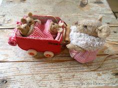 www.grethilde.nl: Drie babymuisjes in een bolderwagen