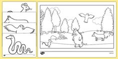 Preview of The Gruffalo Colouring Sheets