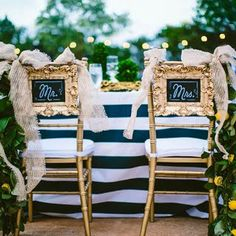 Bride and Groom Chair Decorations | Brides.com