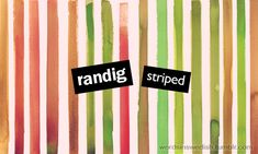 Swedish Adjectives: randig - striped
