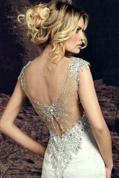 beautiful dress back
