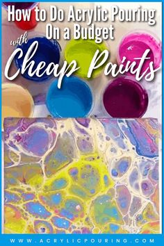 If you are new to the idea of acrylic pouring, or on a restricted budget, you might want to just give it a try with some cheaper materials before splashing out on something more expensive. #acrylicpouring #budget #cheapmaterials #budgetpour #fluidart #fluidpainting