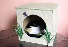 Como fazer um cubo para seu gato.
