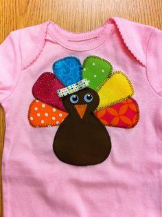 Infant Girl Turkey w/bow