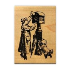 Posting a Letter mounted Christmas rubber stamp by sweetgrasstamps, $9.00