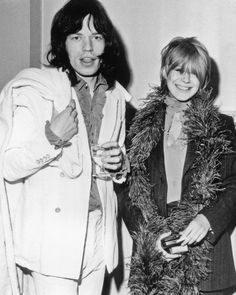 Mick Jagger and Marianne Faithfull.