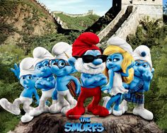Make smurf wallpaper with photoshop montage Steps.SG