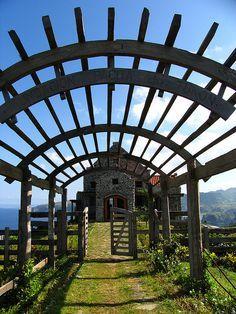 Gate of Fundacion Pacita. Tukon, Basco, Batanes, the Philippines. https://ExploreTraveler.com