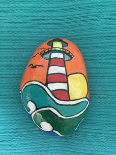 Painted rock/ Lighthouse