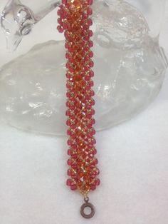 Autumn Splendor Beadwoven Bracelet by BeadingBeeCreations on Etsy, $31.50