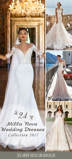 24 Milla Nova Wedding Dresses 2017 ❤ We deeply fell in love when saw the new Milla Nova wedding dresses 2017 bridal collection. These stunning wedding gowns have it all, a modern style, lace details and striking applications. See more: http://www.weddingforward.com/milla-nova-wedding-dresses-2017/ #wedding #dresses