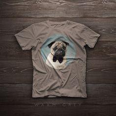 Pug t-shirt Pug tshirt tee by SparaFuori on Etsy