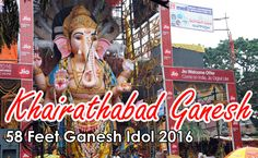 The Khairatabad Ganesh 2016 Idol height is 58 feet and laddu 500 kg in weight. This laddu as usual will be prepared at Tapeswaram located in East Godavari Dist of Andhra Pradesh., by vendor Mr Malli Babu who has been in the business for the last five years.