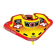 """WOW World of Watersports, 15-1080, Trinity Sister Series Face to Face """"S"""" Shaped Towable, 1 to 4 Person"""