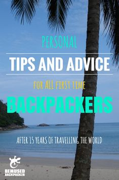 After half a lifetime of travelling the world on my own terms, this is the personal advice I would give to any first time backpacker or anyone thinking of setting off on their own round the world a…