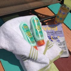 Ocean Potion Anti-Aging Sunblock . First of all, it smells so good that I reapply it more often than any other sunblock I have used! It contains vitamins A,C and E -- it states on its bottle it aids in reduction of cell damaging free radicals for younger skin! It is like using a high quality lotion and sunblock in one.  It smooths on easily and absorbs quickly.  You are supposed to let it absorb before you get into the water.  I use it consistently, and I have not ever gotten sunburned (I…