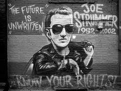Mural dedicated to Joe Strummer of The Clash, East Village, NYC. Photo by Todd Shaffer.