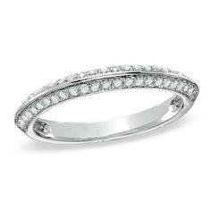1/2 CT. T.W. Diamond Double Row Anniversary Band in 10K White Gold