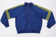 Adidas 90s Vintage Blue Nylon Windbreaker Zip Up Jacket Womens Large