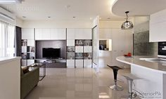 simple two bedroom stylish home interior decoration effect figure 2014