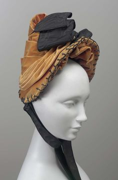 Bonnet (image 1) | England | 1885-1890 | velvet | Museum of Fine Arts, Boston | Accession #: 46.877