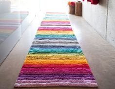 Larry bath rug by Abyss and Habidecor. Bath Rug in multi-color rainbow pattern. Shop luxury Bath Accessories online and in store at Fig Linens in Westport, CT. Bath Rugs, Bathroom Rugs, Bathroom Ideas, Pillowcases & Shams, Square Rugs, Linen Napkins, Furniture Sale, Modern Furniture, Furniture Design