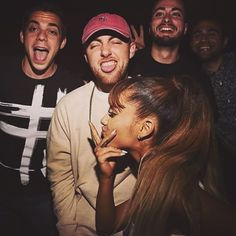 new pic of Ari & Mac from #VMAs2016 ⚡️ they look so damn happy  #arianagrande #macmiller #maciana // forgot to thank you for my first 100 followers ❤️ i n s a n e ! i'm so honored & excited to run this account for you maciana lovers, this means a lot. love you, ariandmac