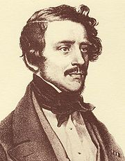Gaetano  Donizetti (1797 –1848) was an Italian composer from Bergamo, Lombardy. His best-known works are the operas L'elisir d'amore (1832), Lucia di Lammermoor (1835), and Don Pasquale (1843), all in Italian, and the French operas La favorite and La fille du régiment (both from 1840). Along with Vincenzo Bellini and Gioachino Rossini, he was a leading composer of bel canto opera.