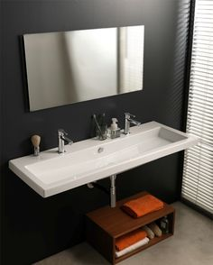 Ceramica Tecla Cangas Ceramic Bathroom Sink with Overflow.  Would love this for the master bath sitting on top of the vanity.