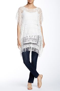 Crochet Kaftan Cover-Up ...Just inspiration no pattern   by Angie on @nordstrom_rack