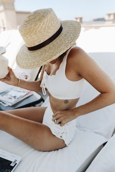 white marysia scalloped swimsuit