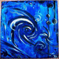 Nadii B. Xx' - ''Silence'' Juli/'11 - mit Acryl auf Leinwand von 30 x 30 cm. 40€.|| einfach Stille...