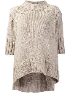 Купить Spencer Vladimir three-quarter-sleeve jumper в Chalk from the world's best independent boutiques at farfetch.com. 400 бутиков, 1 адрес. .