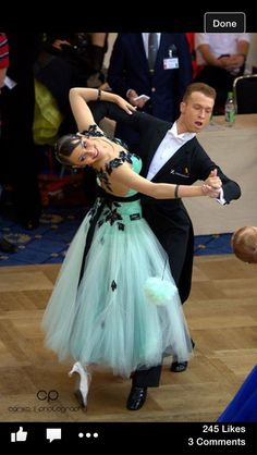 Turquoise ballroom dress