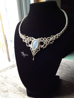 Macrame necklace elven tiara Custom order от creationsmariposa
