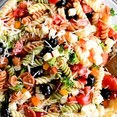 Italian Pasta Salad is an easy, flavorful side dish with veggies, pepperoni, cheese and Italian dressing. Make for parties, potlucks and backyard barbecues. Best Pasta Salad, Easy Pasta Salad Recipe, Pasta Salad Italian, Salad Recipes Video, Veggie Pasta Salads, Brocoli Pasta Salad, Pasta With Italian Dressing, Pasta Salad Recipes Cold, Easy Cold Pasta Salad