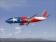 Southwest Airlines Texas plane