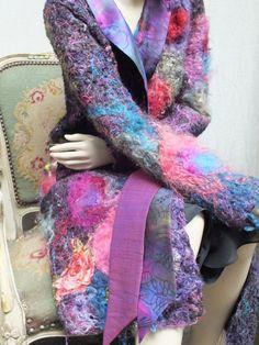 SUMMER SUMMER EVERYWHERE coat.handmade unique  by JARMOLOWSKA