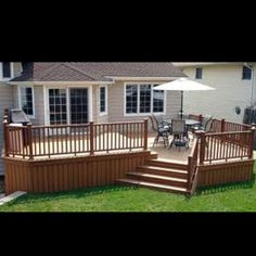 Backyard Deck. Add another set of stairs on side.