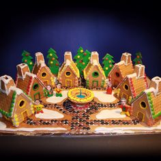 Family project: Gingerbread-town for Cristmas Gingerbread, Cakes, Desserts, Projects, Tailgate Desserts, Log Projects, Deserts, Blue Prints, Cake Makers