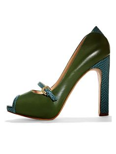 Colorful peep toes #Marshalls #falltrends..LOVE the color--could NOT walk in these bad boys:((