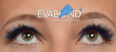 Blue mix with black in 3d volume eyelash extensions