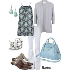 Blue & Grey (MICHAEL Michael Kors Open front cardigan $215)